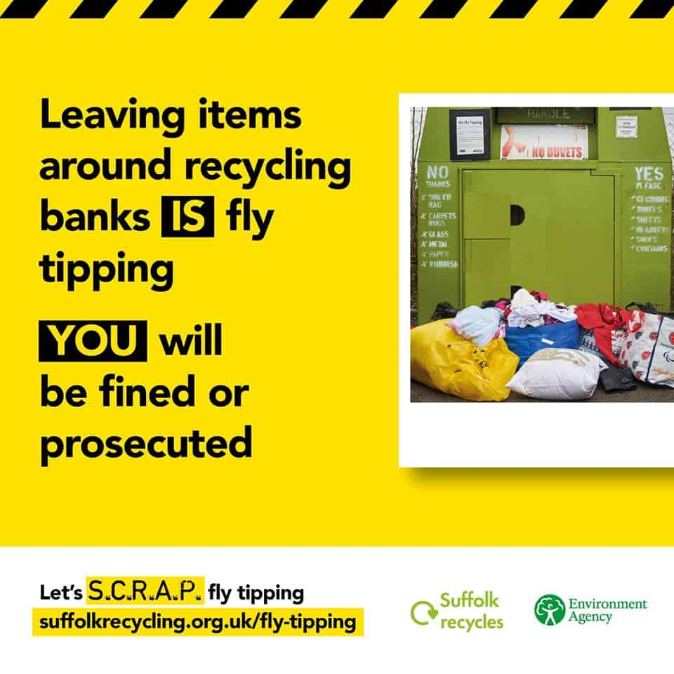 Let's S.C.R.A.P Fly tipping poster